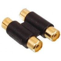 Cinch adapter 2xf/f gold