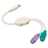 adapt. usb a to 2x ps/2 f
