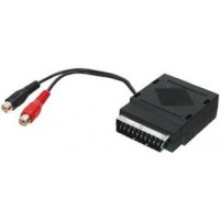 Scart plug/socket + 2 phono sockets