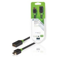 High Speed HDMI kabel met Ethernet HDMI-Connector - HDMI Female 2.00 m Antraciet
