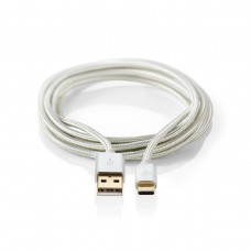 USB C to USB male laad en data kabel